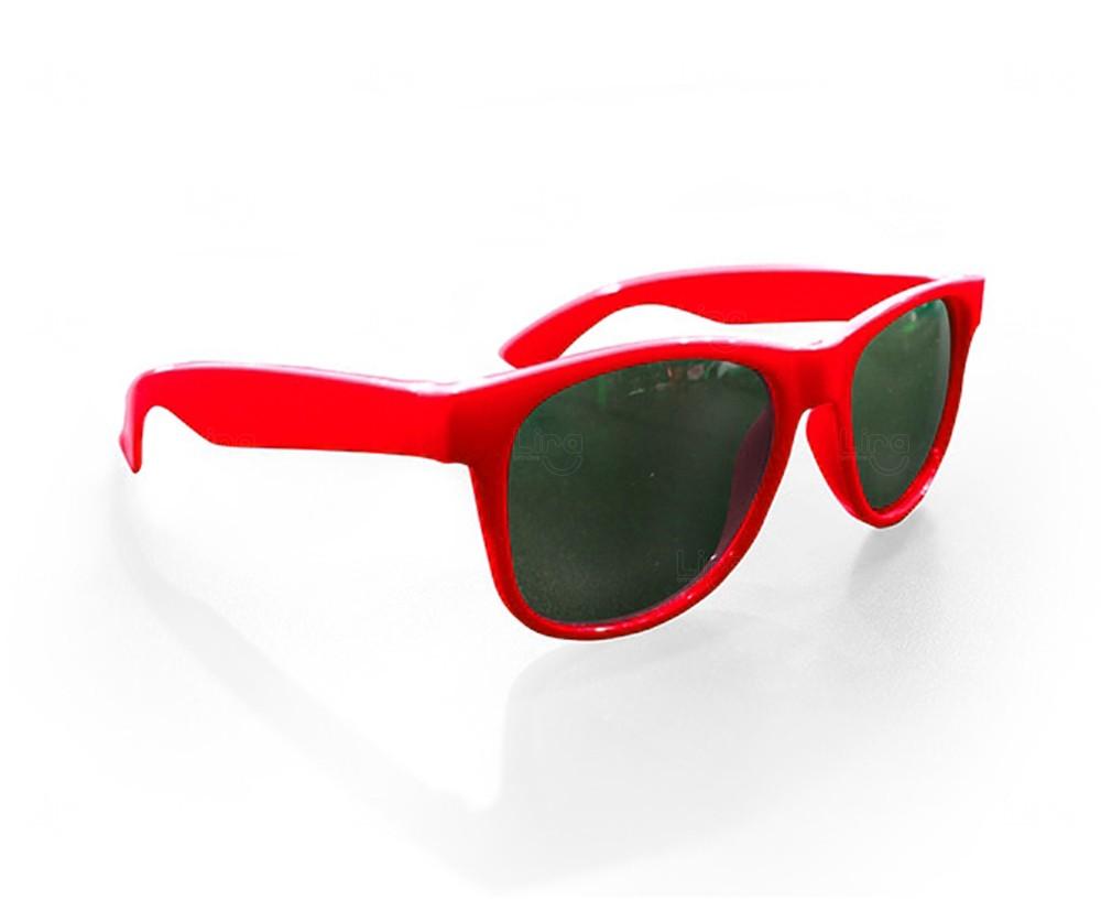 Óculos Reticulado Yoga Personalizado Vermelho