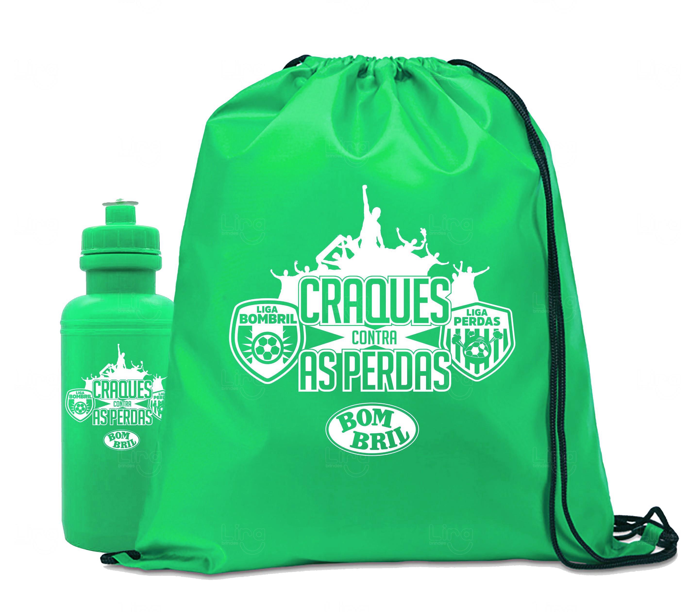 Kit Sacochila E Squeeze Personalizado Verde