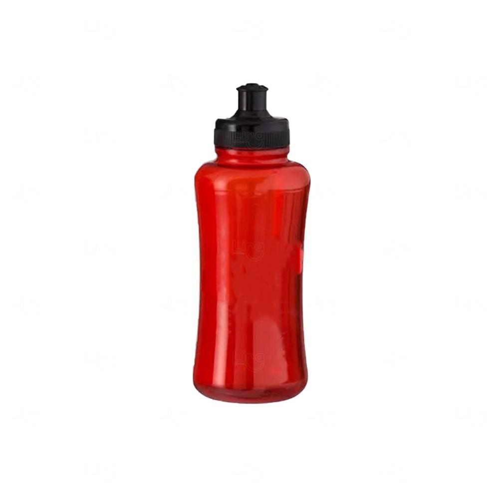 Squeeze Pet Personalizada - 550 ml Preto Vermelho