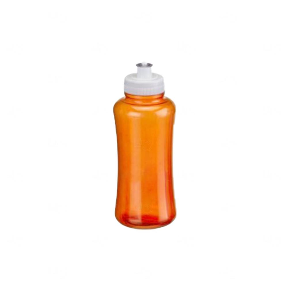 Squeeze Pet Personalizada - 550 ml Laranja e Branco