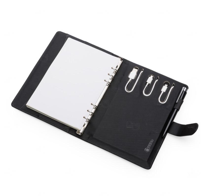 Caderno Power Bank Personalizado - 4000mAh