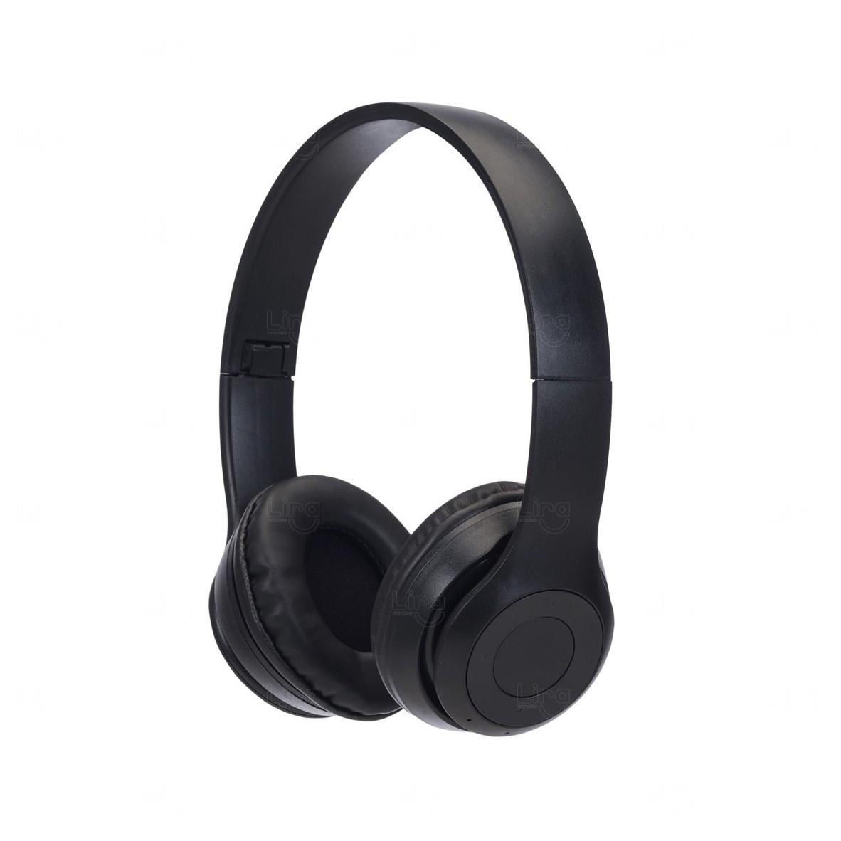 Fone de Ouvido Personalizado - Bluetooth Preto