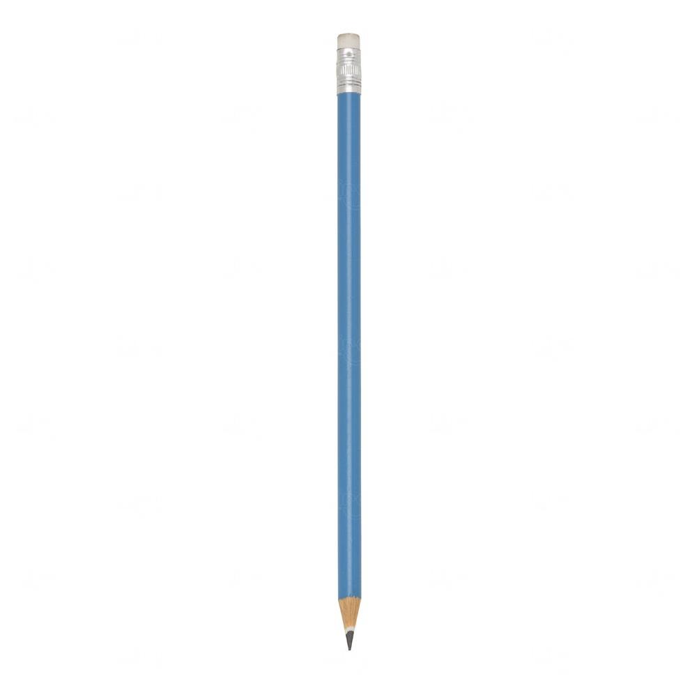 Lápis Ecológico C/ Borracha Personalizado Azul