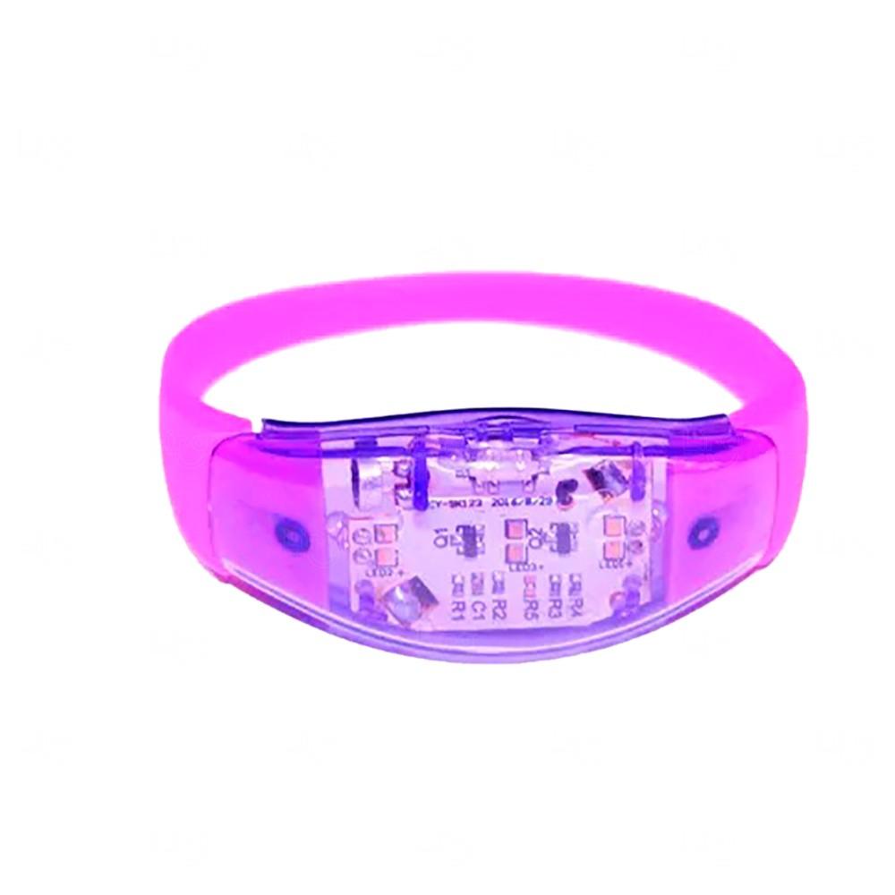 Pulseira Musical LED Personalizada Roxo