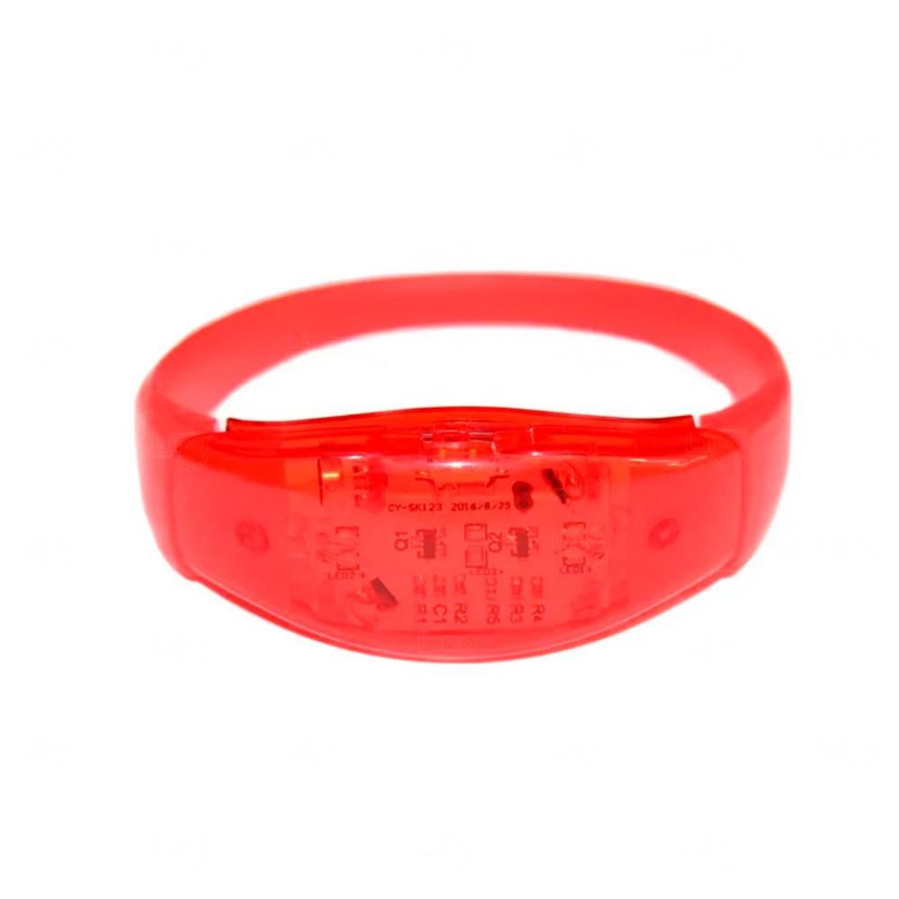 Pulseira Musical LED Personalizada Vermelho