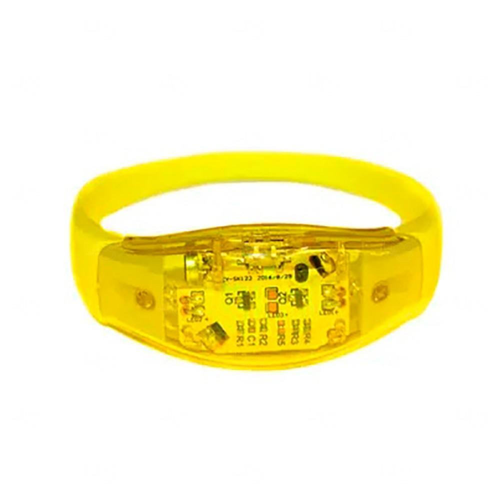 Pulseira Musical LED Personalizada Amarelo