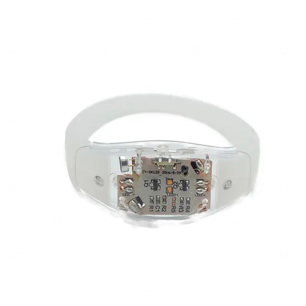 Pulseira Musical LED Personalizada Transparente