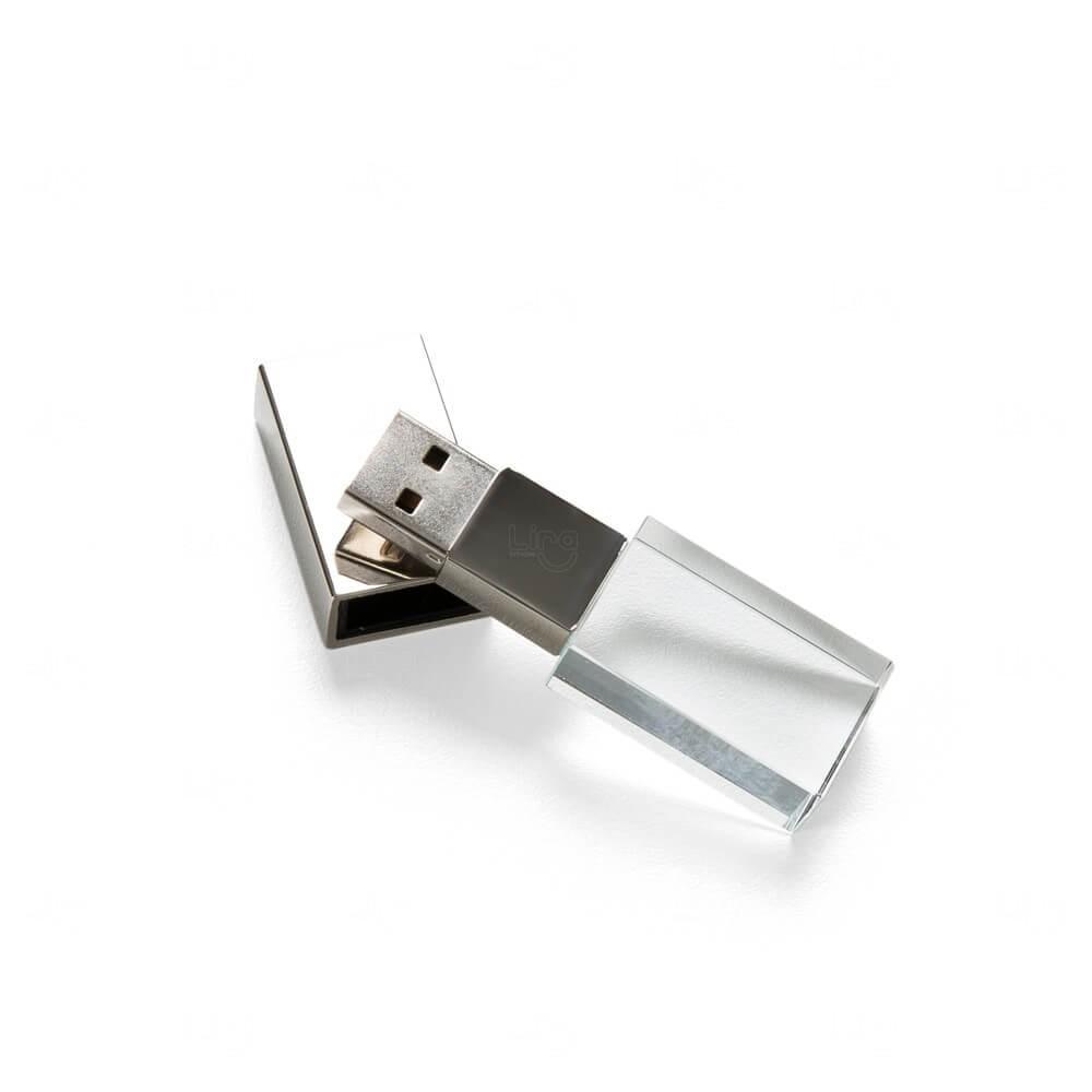 Pen Drive De Vidro Personalizado - 4 GB Transparente