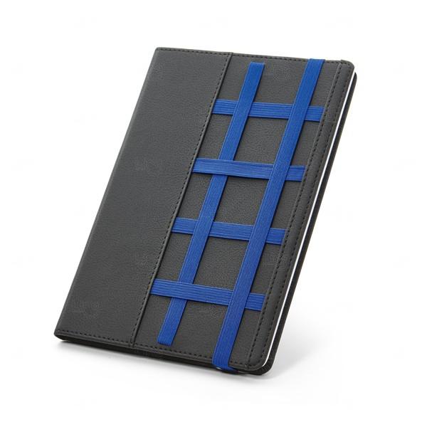 Caderno Personalizado em Couro Sintético Azul