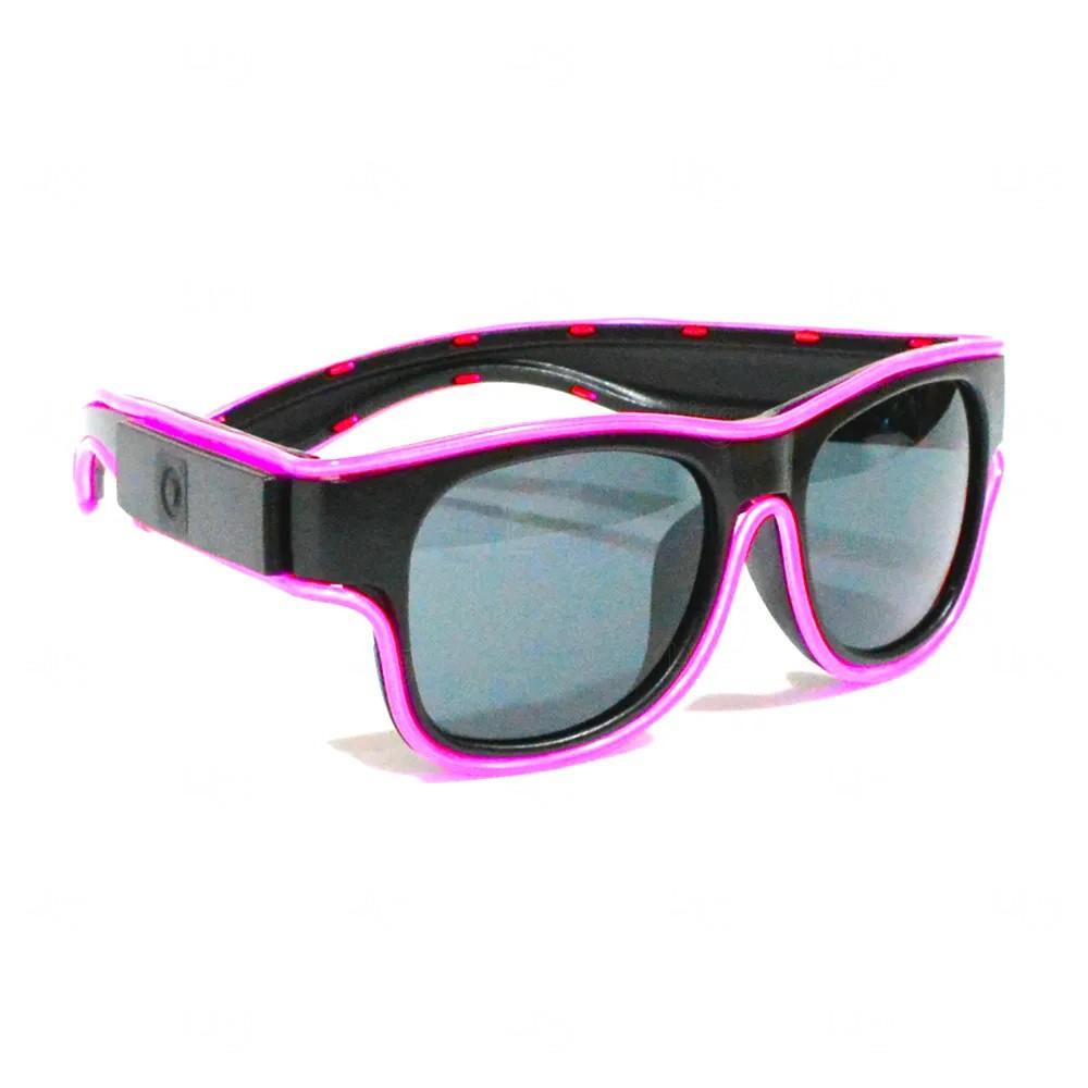 Óculos Personalizado Luminoso Neon Rosa