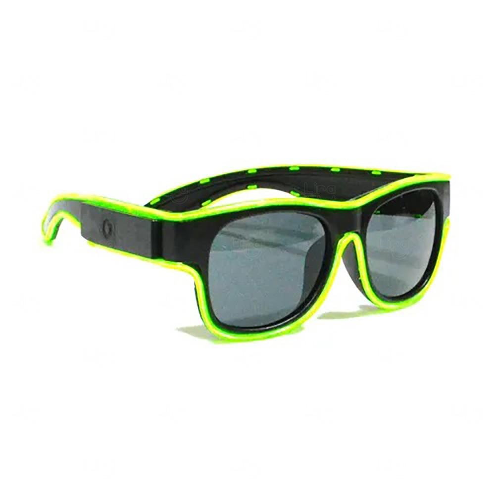 Óculos Personalizado Luminoso Neon Verde Claro