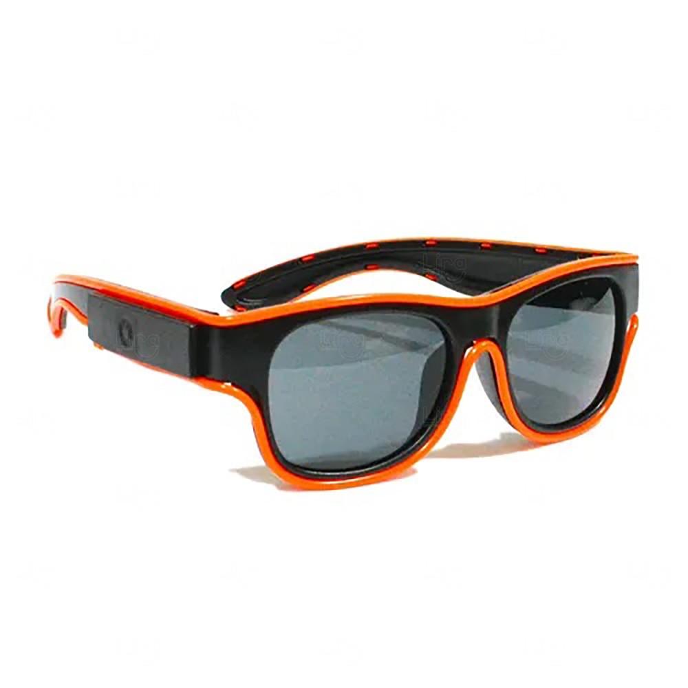 Óculos Personalizado Luminoso Neon Laranja