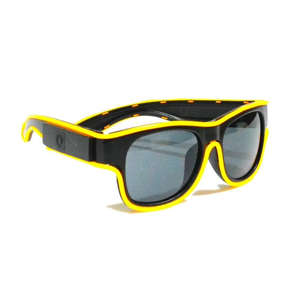 Óculos Personalizado Luminoso Neon Amarelo