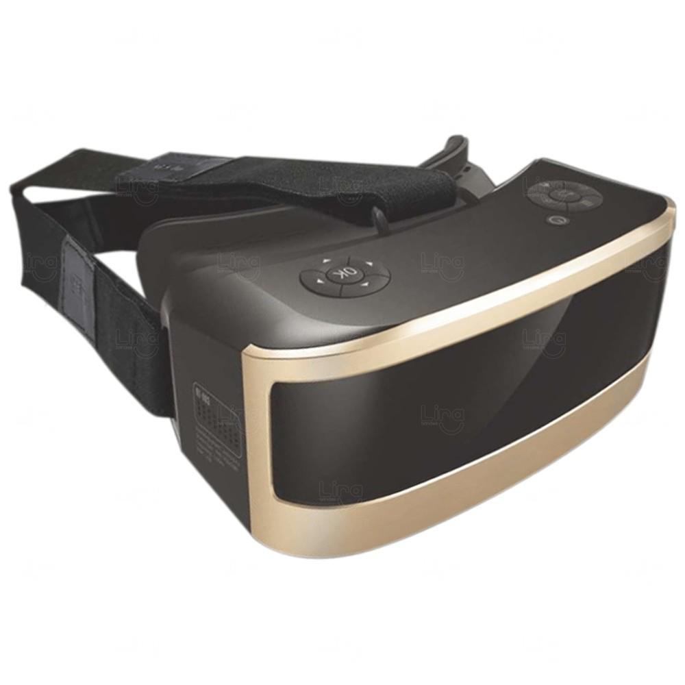 Óculos VR Personalizado Realidade Virtual Dourado