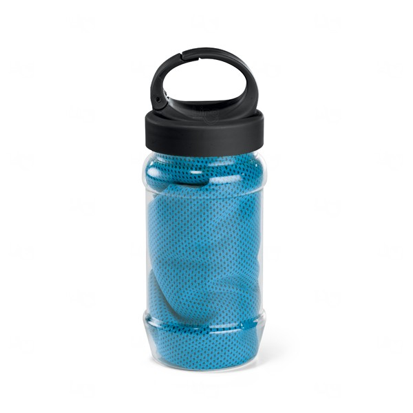 Squeeze com Toalha Personalizada - 440ml Azul Claro