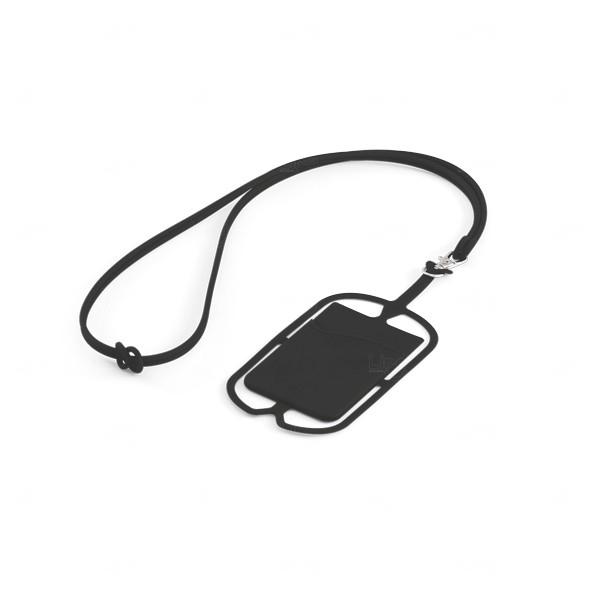 Porta Cartão Celular Personalizado Silicone Preto