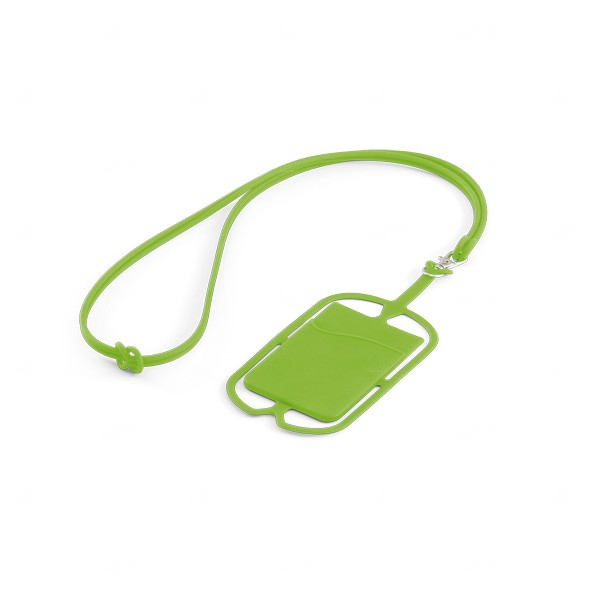 Porta Cartão Celular Personalizado Silicone Verde