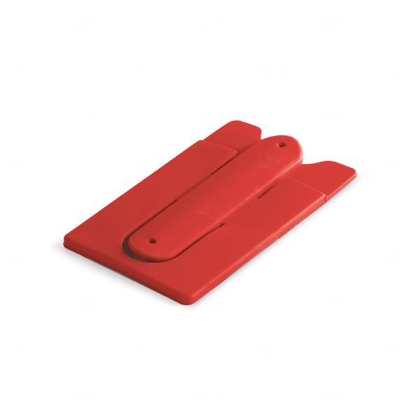 Porta Cartão Suporte Flexível Personalizado Vermelho