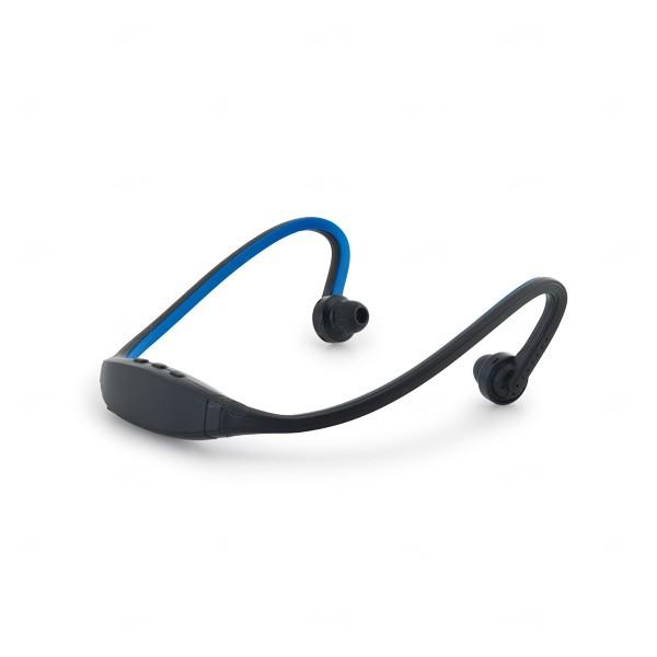 Fone Bluetooth Flexível Personalizado Azul