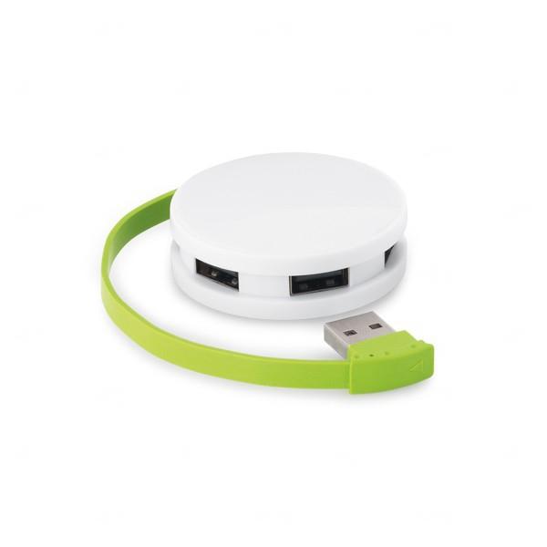 Hub USB 2.0  Personalizado Verde