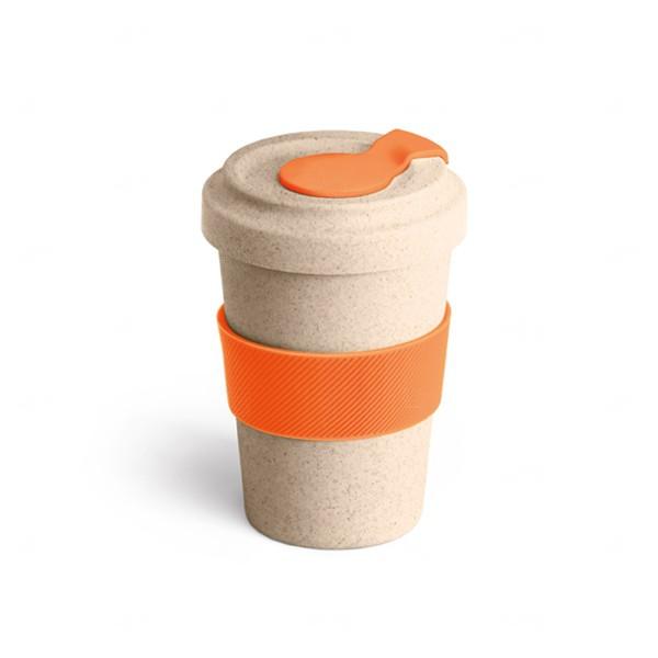 Copo Personalizado de Fibra Bambu - 500 ml Laranja