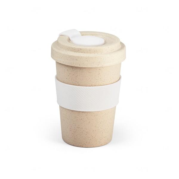 Copo Personalizado de Fibra Bambu - 500 ml Branco