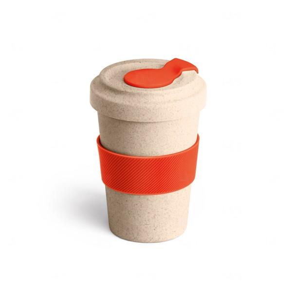 Copo Personalizado de Fibra Bambu - 500 ml Vermelho
