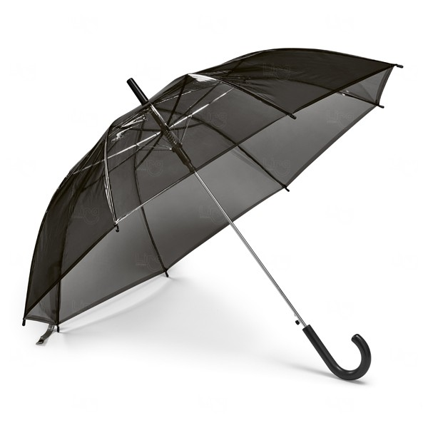 Guarda Chuva Transparente Personalizado Preto