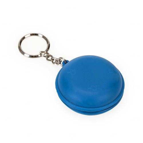 Fone de Ouvido C/ Chaveiro Personalizado Azul