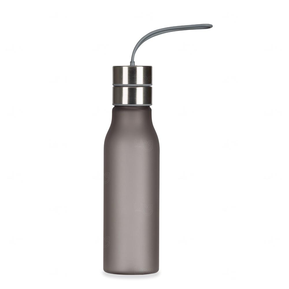 Garrafa com Alça de Silicone Personalizada - 600 ml Chumbo