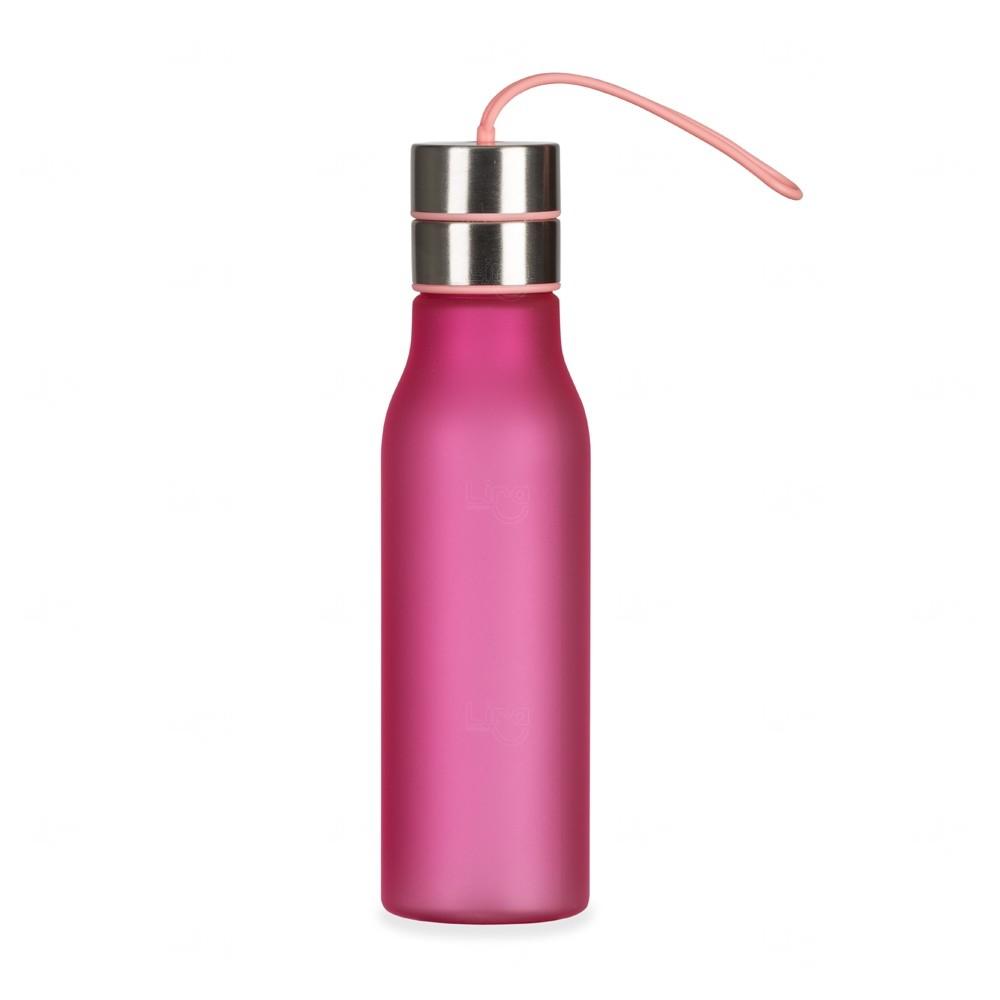 Garrafa com Alça de Silicone Personalizada - 600 ml Rosa