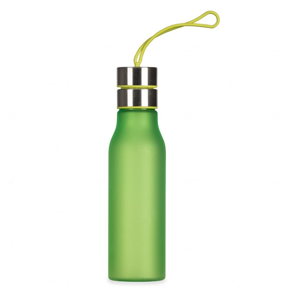 Garrafa com Alça de Silicone Personalizada - 600 ml Verde