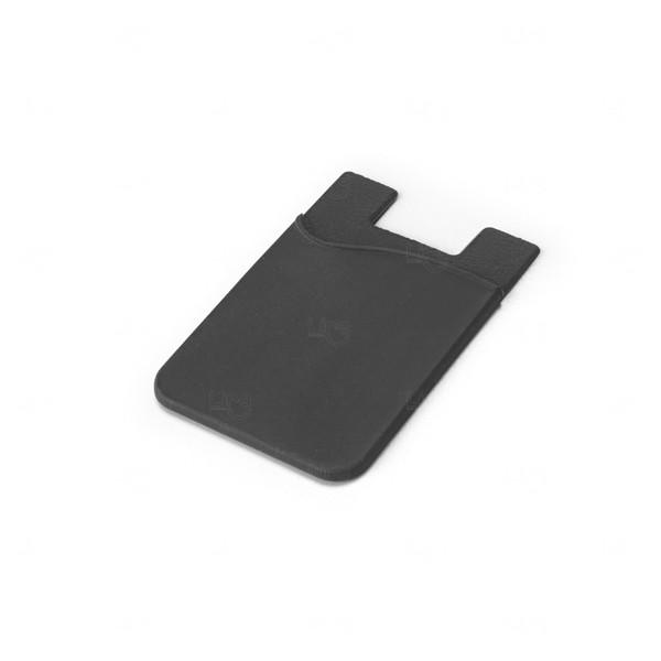 Porta Cartão Personalizado Silicone Preto