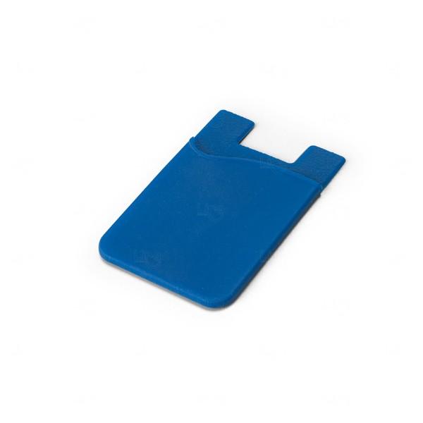 Porta Cartão Personalizado Silicone Azul Marinho