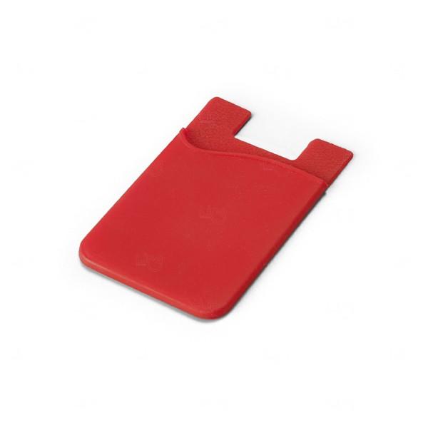 Porta Cartão Personalizado Silicone Vermelho