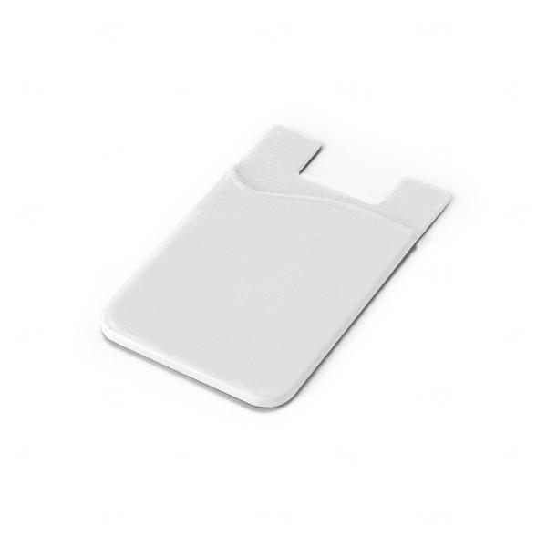Porta Cartão Personalizado Silicone Branco