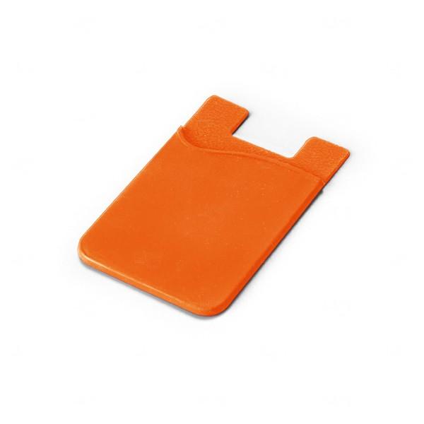 Porta Cartão Personalizado Silicone Laranja