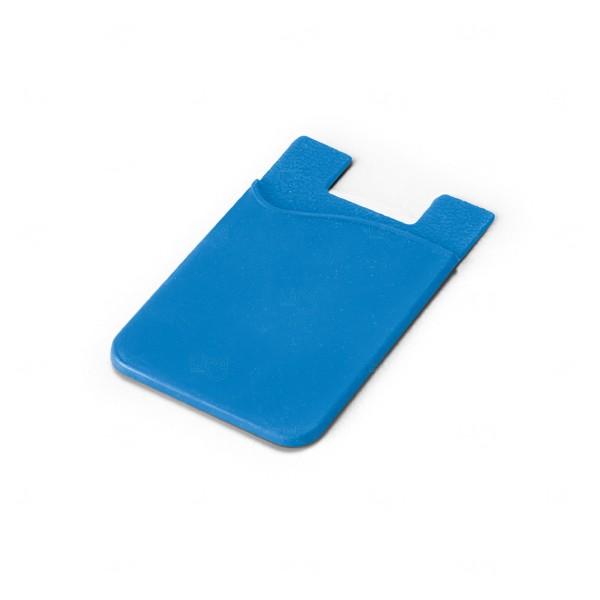 Porta Cartão Personalizado Silicone Azul