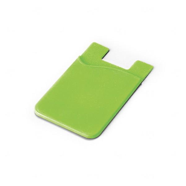 Porta Cartão Personalizado Silicone Verde
