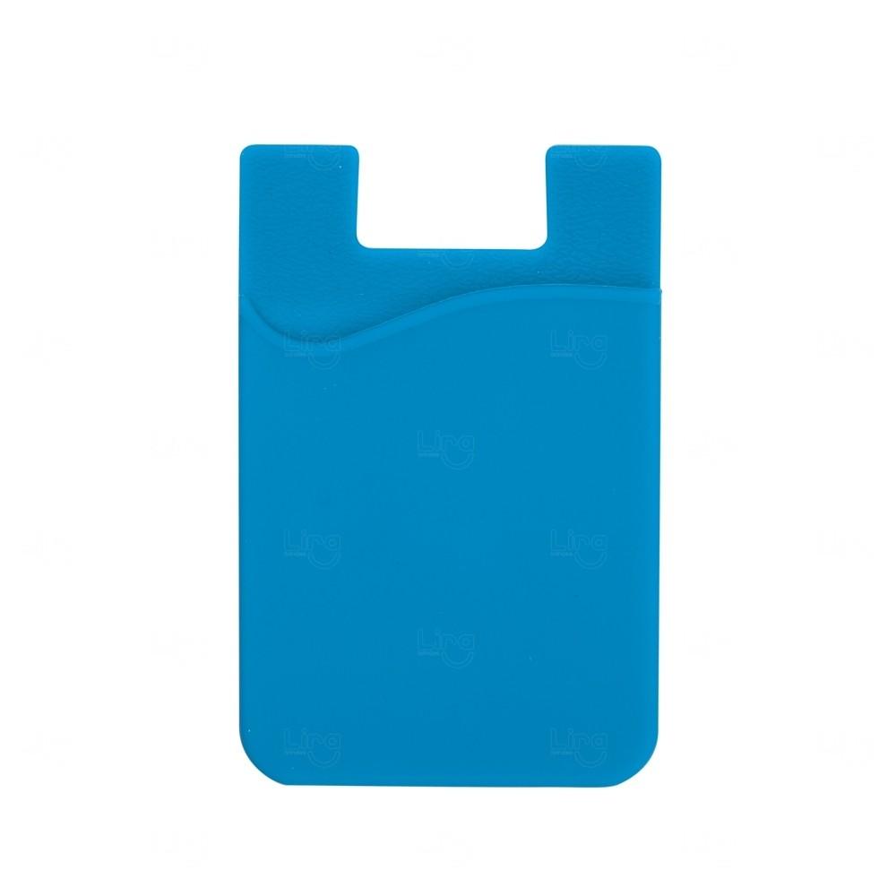 Adesivo Porta Cartão P/ Celular Personalizado Azul Claro