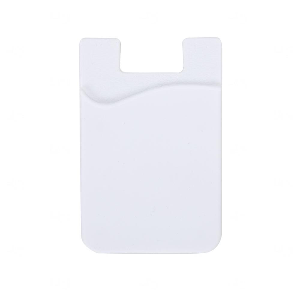 Adesivo Porta Cartão P/ Celular Personalizado Branco