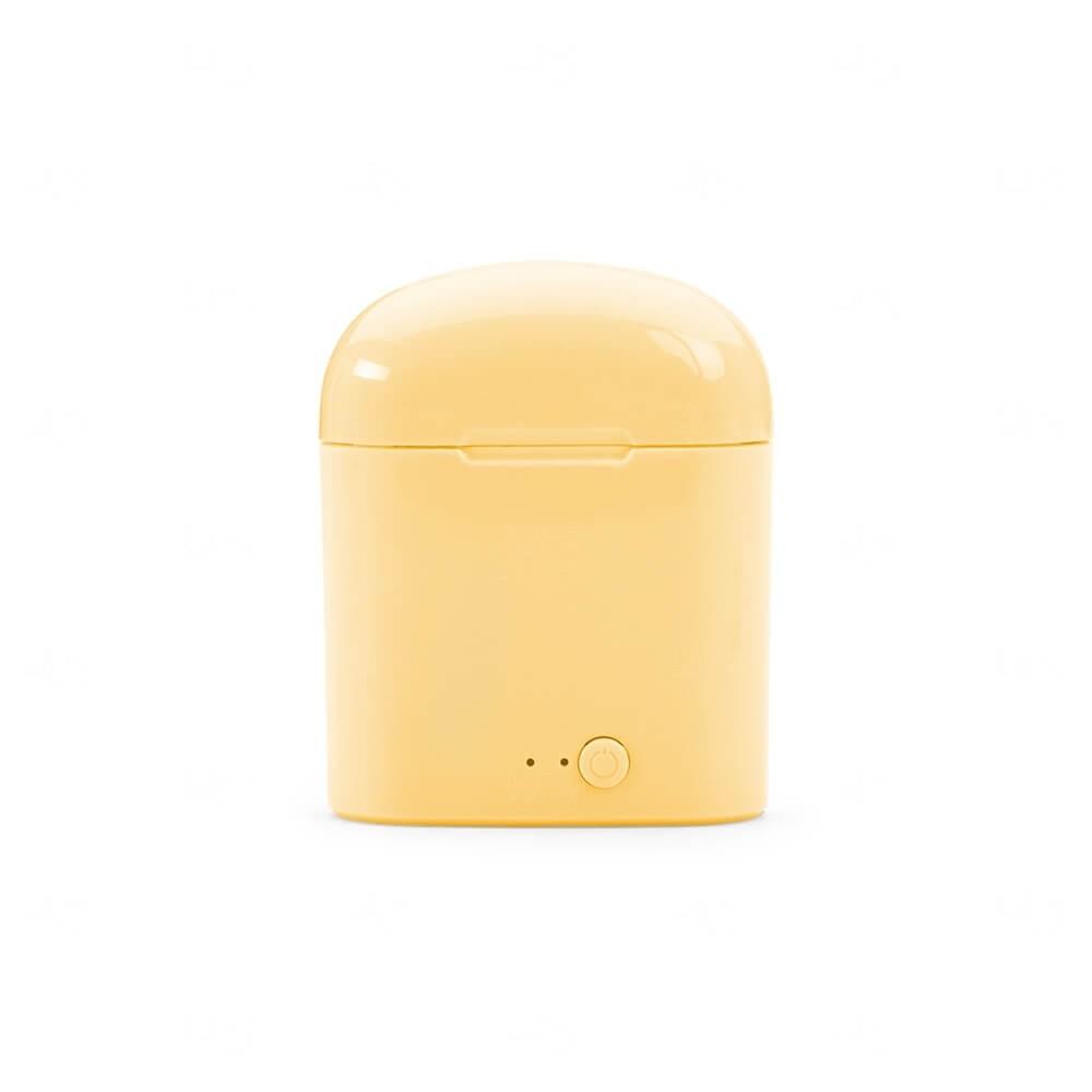 Fone de Ouvido Bluetooth Breeze Personalizado Amarelo