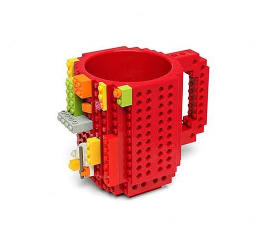 Caneca Personalizada Bloquinho Tipo Lego Vermelho