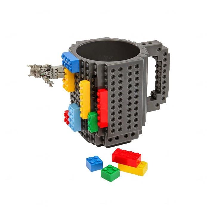 Caneca Personalizada Bloquinho Tipo Lego Preto
