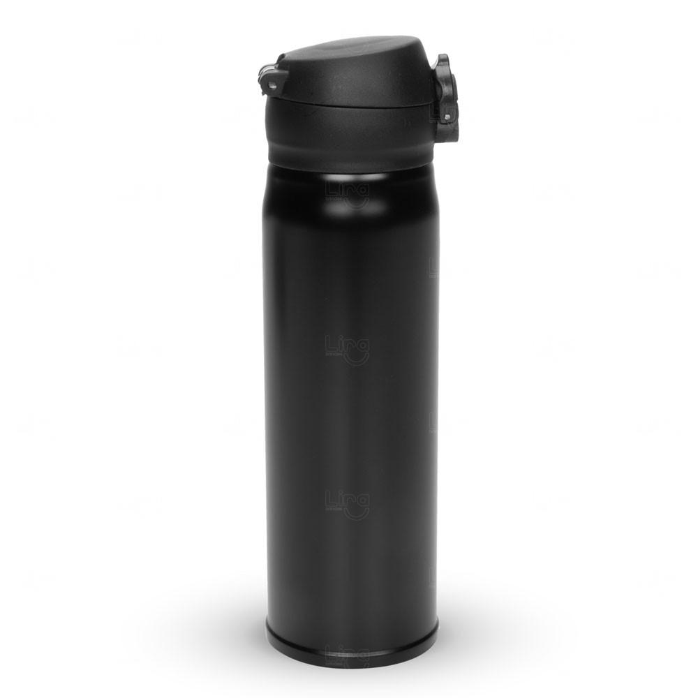Mini Garrafa Térmica Personalizada - 400 ml Preto