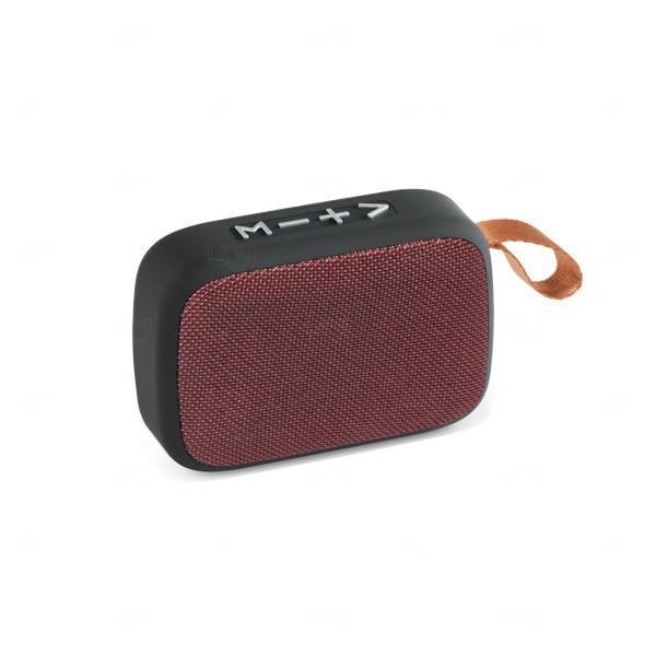 Caixa De Som Emborrachada C/ Microfone Vermelho