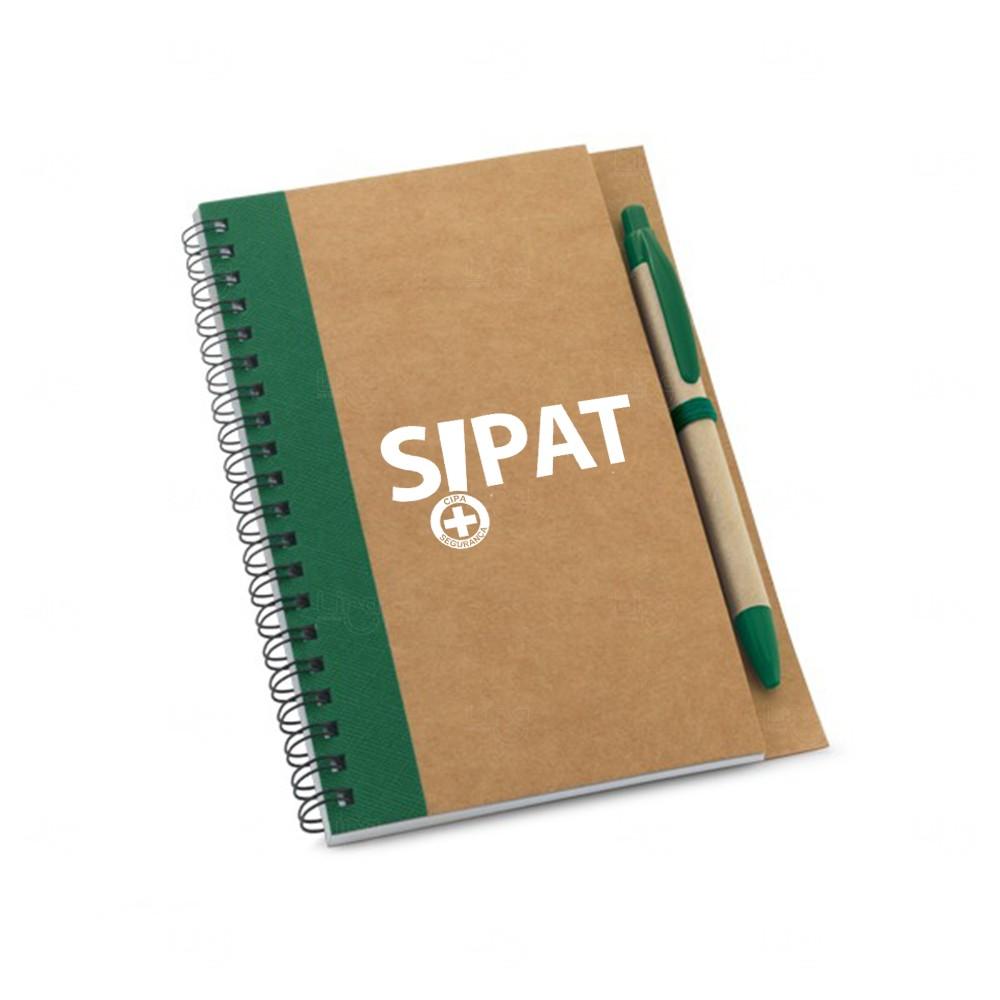 Caderno Personalizado Ecológico Com Caneta 17,7 x 13 Verde