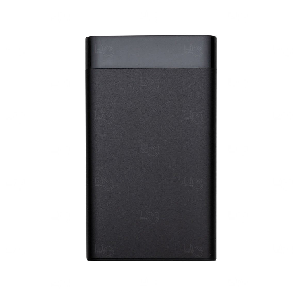 Bateria Power Bank Personalizado Visor Digital - 6.000 mAh Preto
