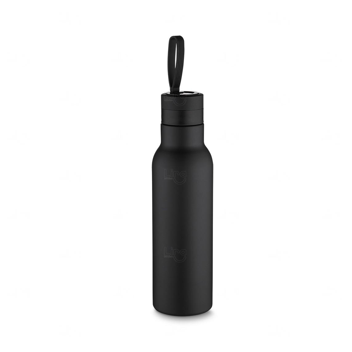 Garrafa Térmica Inox - 500 Ml Preto