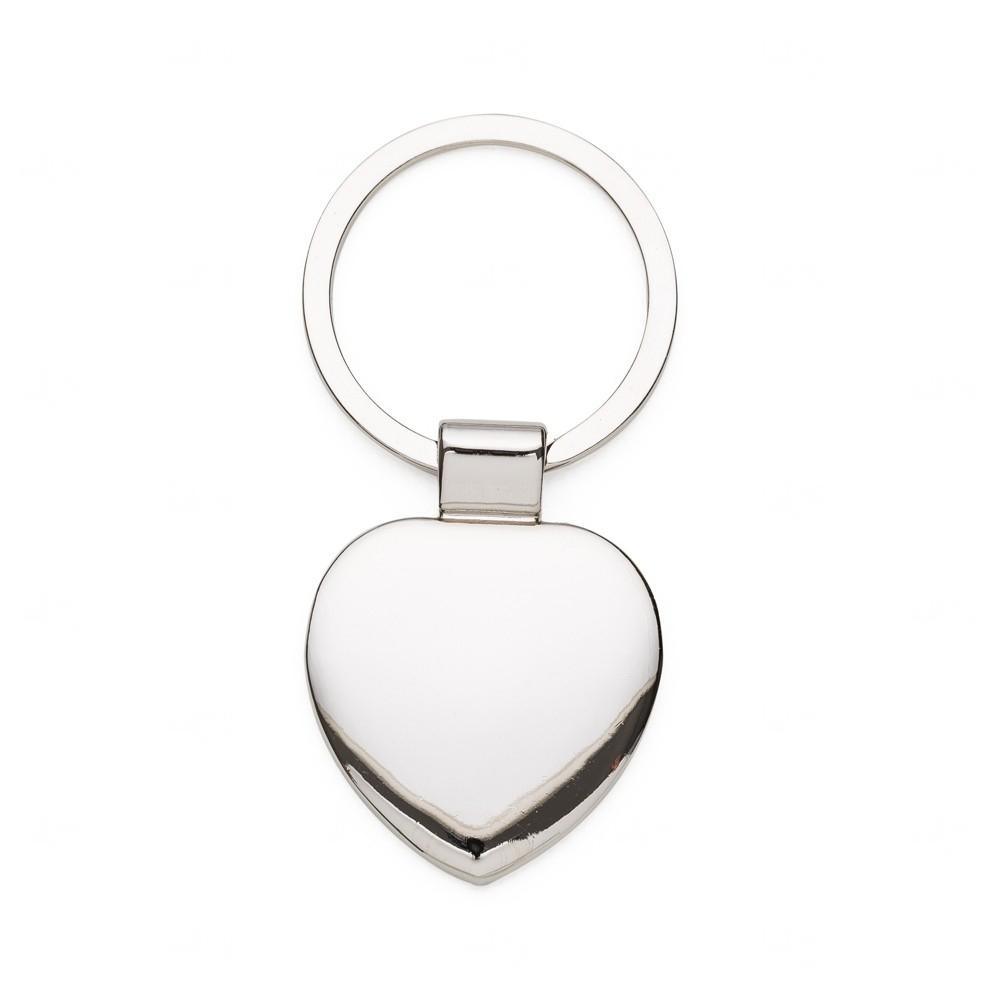 Chaveiro Metal Coração Prata